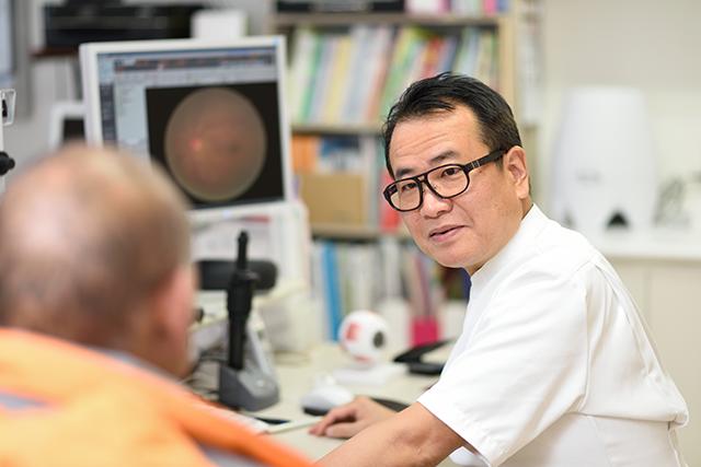 白内障手術のインタビュー時の桜田先生