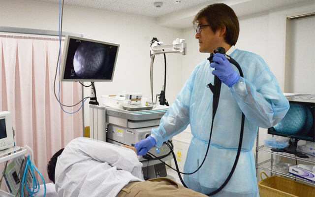 上部内視鏡による胃がんの発見例