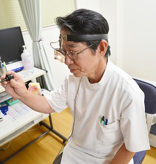 耳鼻咽喉科の診療について説明