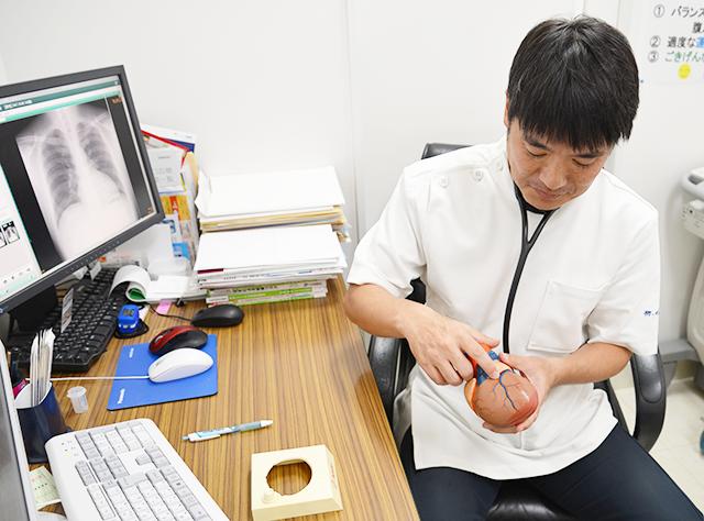 狭心症の検査・治療について説明